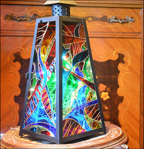 Multi Colour Abstract Lantern