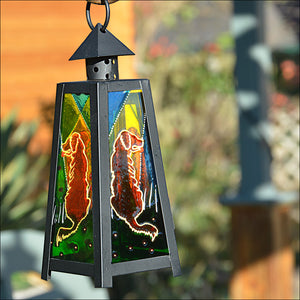 Golden Retriever Art Lantern