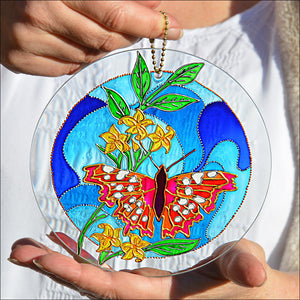 Red, Pink & Blue Butterfly Roundel