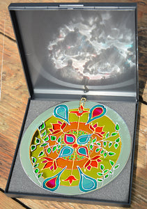 William Morris Abstract Art Glass Roundel