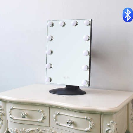 Harmony Collection - Hollywood Glam Mirror 'The Bella' with Bluetooth Speakers - Glam Doll