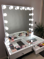 The Burbank Hollywood Glam Station with Mirror - NEW Features! - GLAM DOLL
