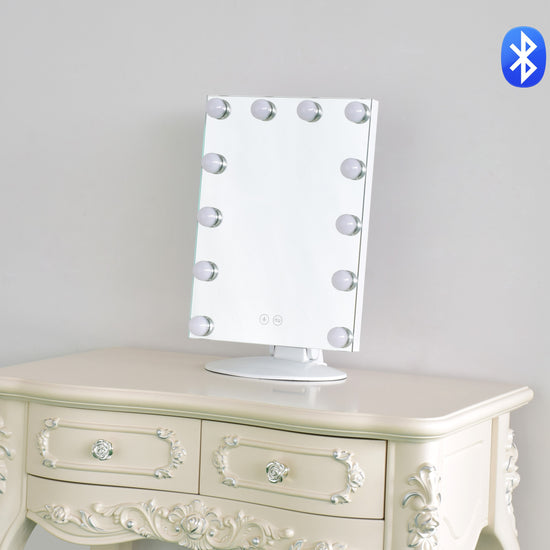 Harmony Collection - Hollywood Glam Mirror 'The Gigi' with Bluetooth Speakers - GLAM DOLL