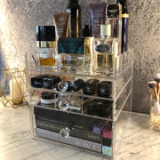 Glam Box Collection - Mini Glam 3 Drawer Cosmetic Organiser