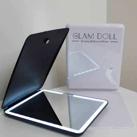 Glam Doll Travel Mirror - Black - GLAM DOLL