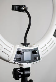Glam Studio LED Ring Light with Remote - White - Glam Doll