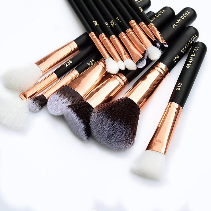 GD Rose Pro Complete 15-piece Brush Set - Glam Doll