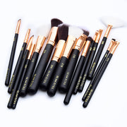 GD Rose Pro Complete 15-piece Brush Set w/ Matching Clutch - GLAM DOLL