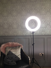 DEMO MODEL - Glam Studio LED Ring Light with Stand & All Accessories - Glam Doll