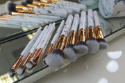 GD Bianco Marble 10-piece Brush Set w/ Travel Case - Glam Doll
