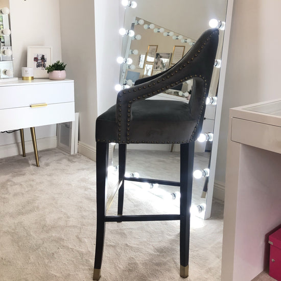 Sample Sale- Luxe Velvet High Makeup Chair - Glam Doll