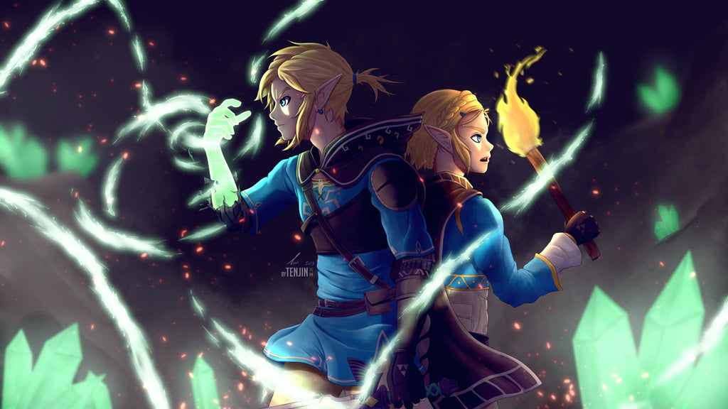 botw 2 link et zelda fan art