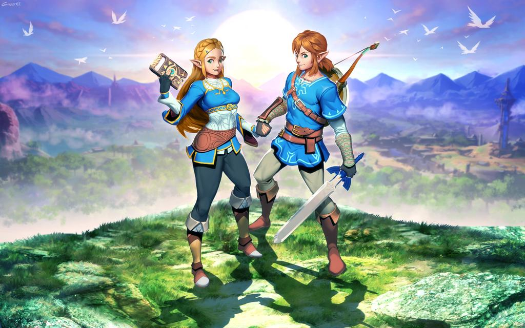 botw 2 zelda et link fan art