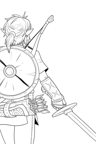 coloriage the legend of zelda breath of the wild