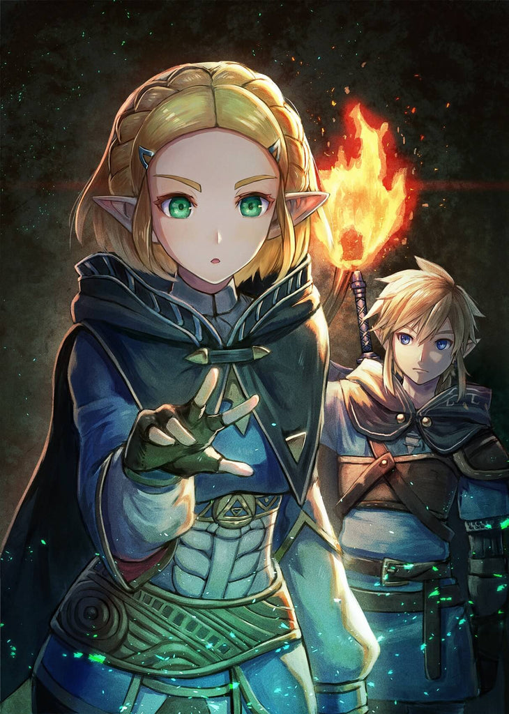 fan art breath of the wild 2 link et zelda
