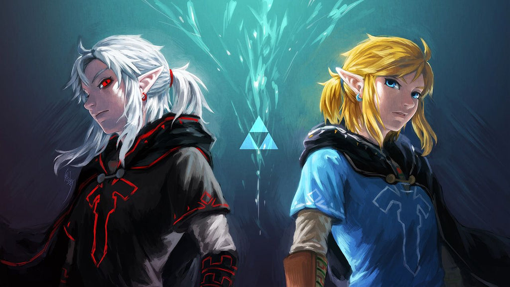 link et dark link fan art