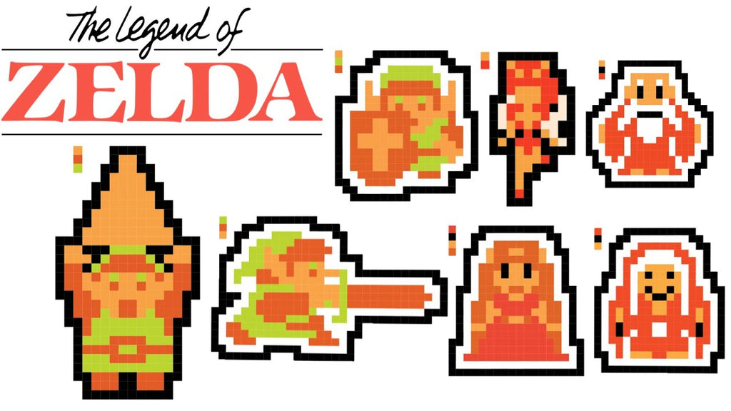 legend of zelda pixel art