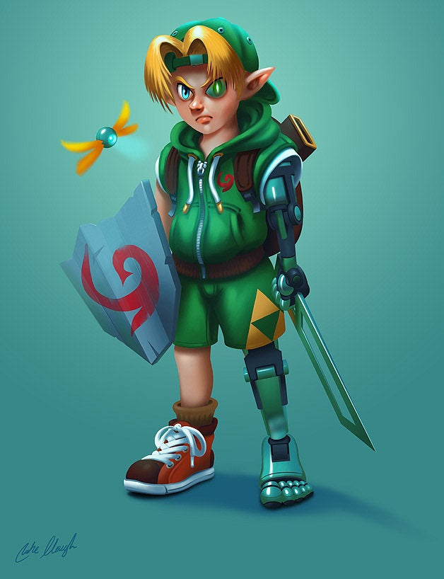 fan art link enfant