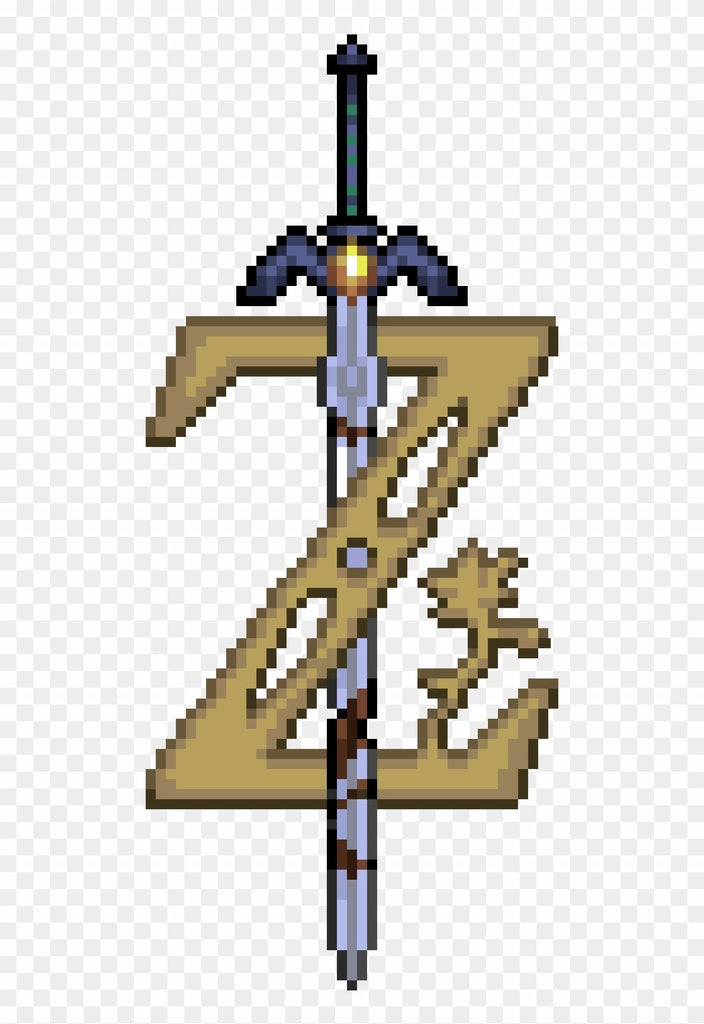 zelda pixel art breath of the wild logo