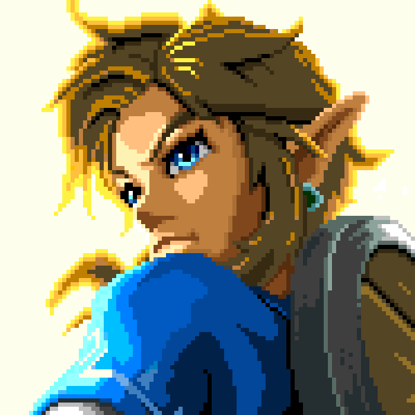 zelda pixel art link breath of the wild