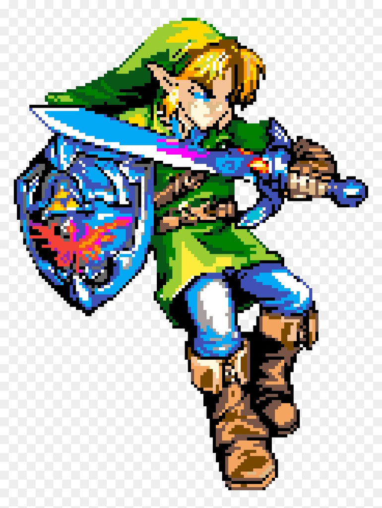 pixel art link ocarina of time
