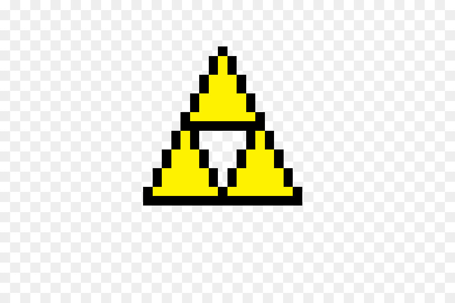 zelda pixel art triforce