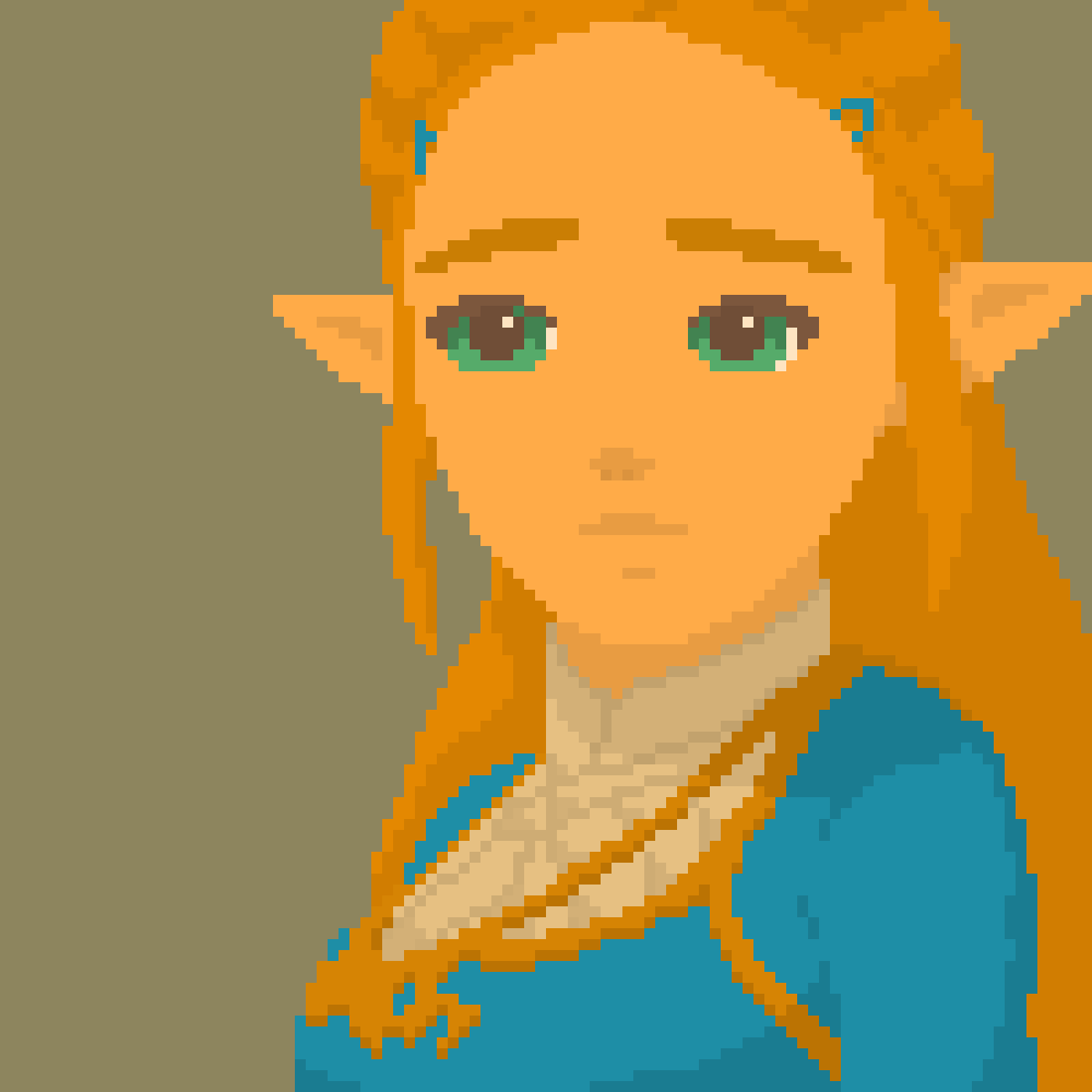 princess zelda pixel art breath of the wild