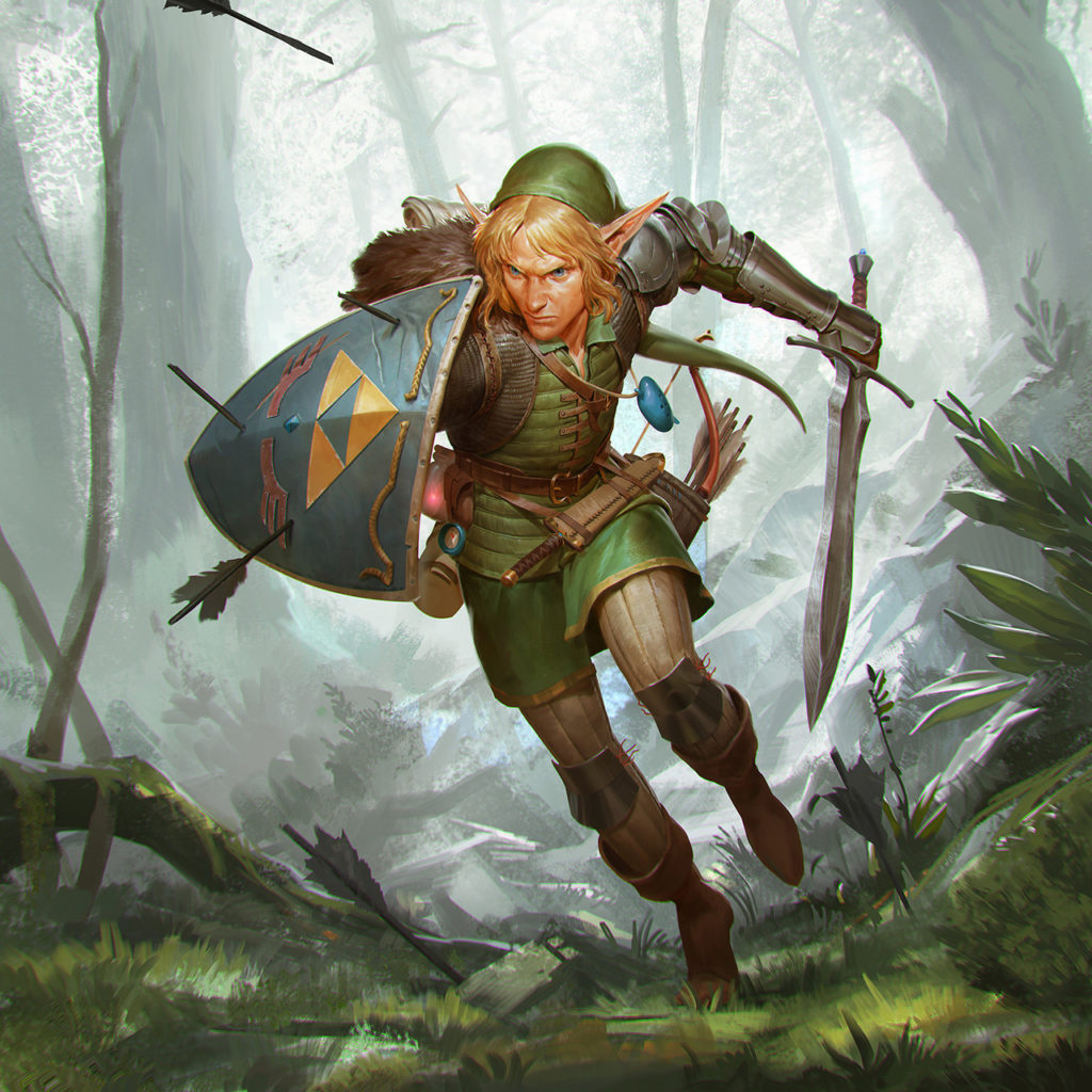the legend of zelda link fan art