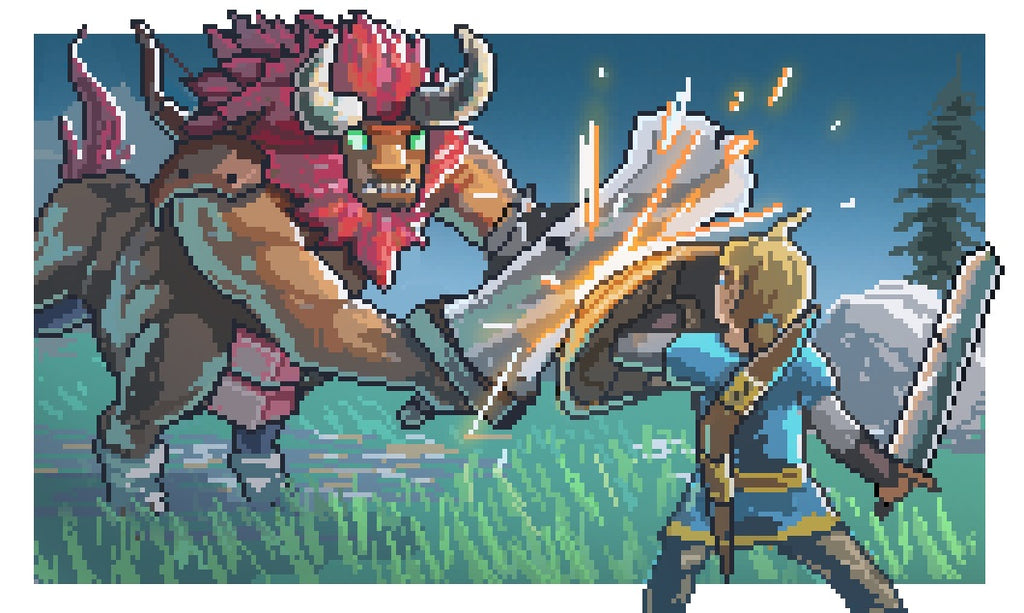 pixel art zelda breath of the wild