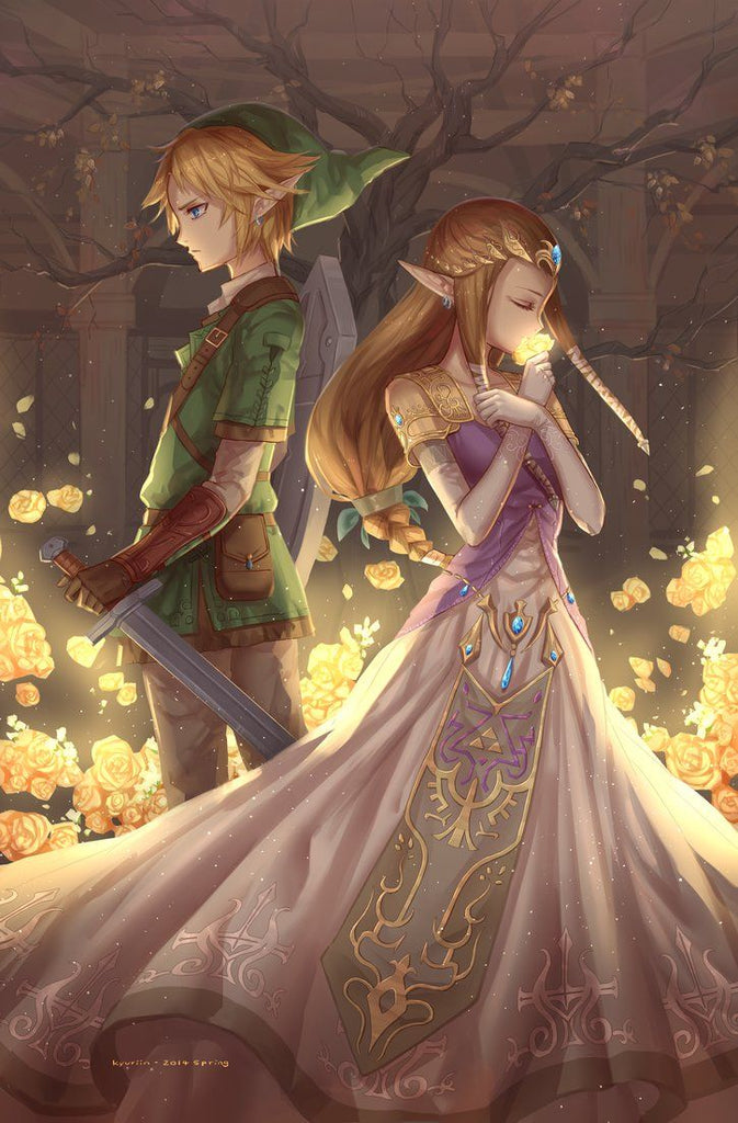 zelda et link fan art