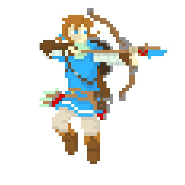 pixel art link breath of the wild