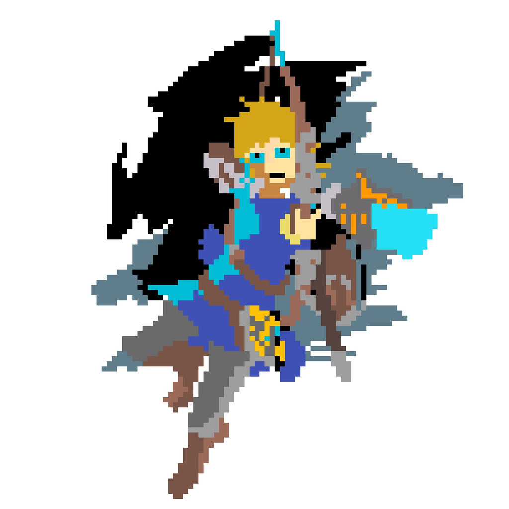 link pixel art breath of the wild