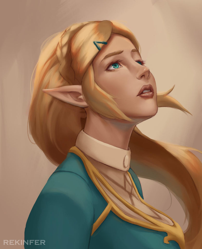 breath of the wild priness zelda fan art