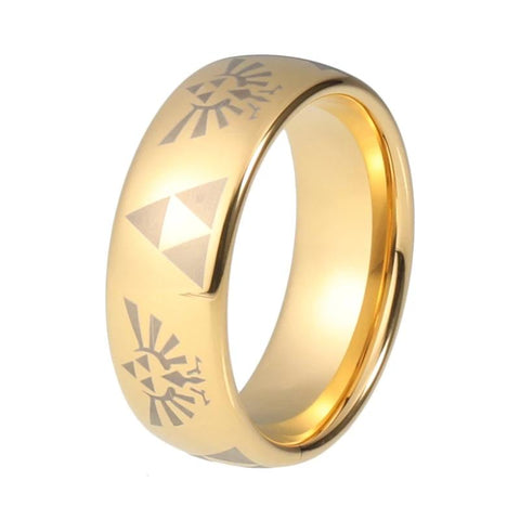 bague zelda triforce or