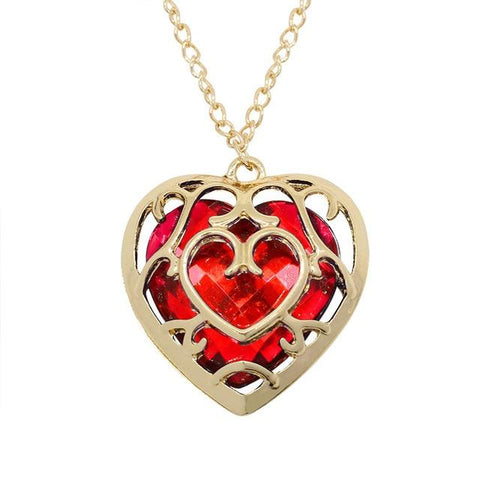 Collier Coeur Zelda rouge