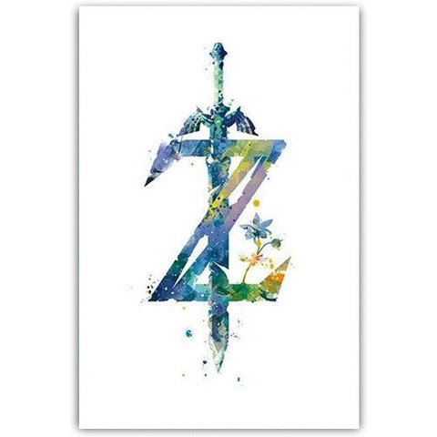 poster logo breath of the wild