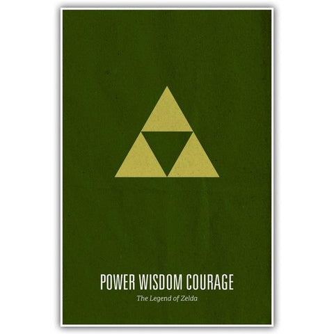 poster Power Wisdom Courage