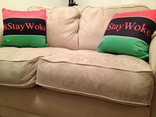 RBG I Stay Woke Throw Pillow Red, Black, Green Pan African