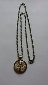 "Kemet Ankh Pendant Necklace Eternal Egyptian Cross Jewelry Bronze 19"" Chain"