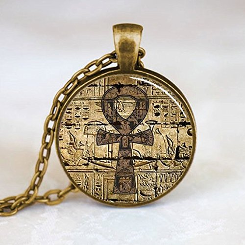 Kemet Ankh Pendant Necklace Eternal Egyptian Cross Jewelry Bronze 19