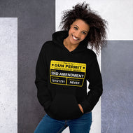 Gun Permit Unisex Hoodie with front kangaroo pocket 2nd Amendment