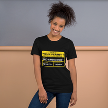Gun Permit on Short-Sleeve T-Shirt 2nd Amendment