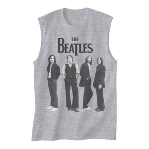 The Beatles Standing - Womens Grey Heather Muscle Tank Top