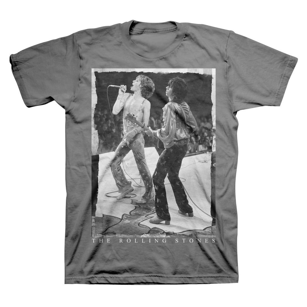 Rolling Stones Live Shot - Mens Smoke T-Shirt