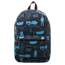 Innovative Online Industries Pattern Backpack, Sublimated Backpack with Gaming Grid Design, MMORPG Virtual Reality