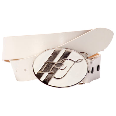 Belt Strap - White, with White Buckle