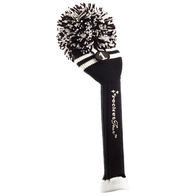Two Stripe Pom Pom - Black W /  2 White Stripes