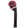 Victory Stripe Pom Pom Headcovers - Black - Red / White