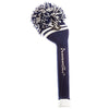 Two Stripe Pom Pom Headcover - Navy W / 2 White Stripes