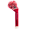 Two Stripe Pom Pom Headcovers - Red W / 2 White Stripes